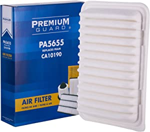 Premium Guard Air Filter PA5655| Fits 2009-19 Toyota Corolla, 2006-18 Yaris, 2009-14 Matrix, 2007 Avanza, 2017-18 Corolla iM, 2008-14 Scion xD, 2016 iM, 2009-10 Pontiac Vibe