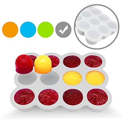 Silicone Freezer Tray for Baby Food Storage - Reusable Baby Food Storage Containers - Vegetable &