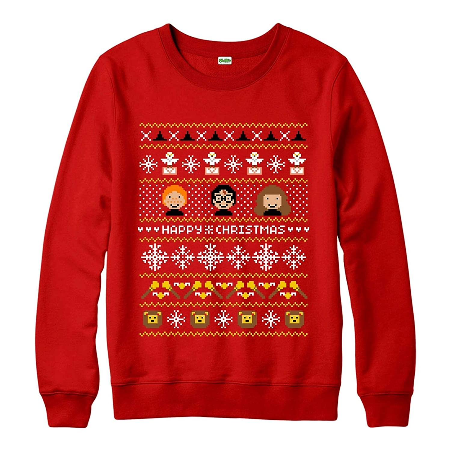 Spoofy Clothing Harry Potter Christmas Jumper, Hermione Ron Xmas Festive Adult & Kids Sizes