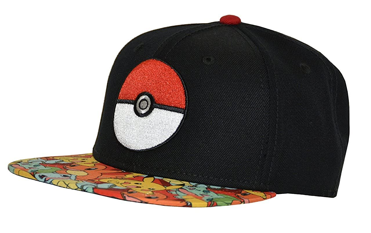 Pokemon Pokeball Sublimated Bill Youth Snapback Hat Bioworld