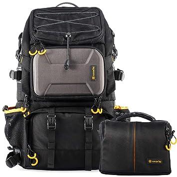 nuovo stile 7d19f c3854 TARION Pro PB-01 Zaino fotografico Colore Nero Zaino Capienza Grande con  Marsupio Zaino da trekking Zaino DSLR per il Campeggio Sport da viaggio ...