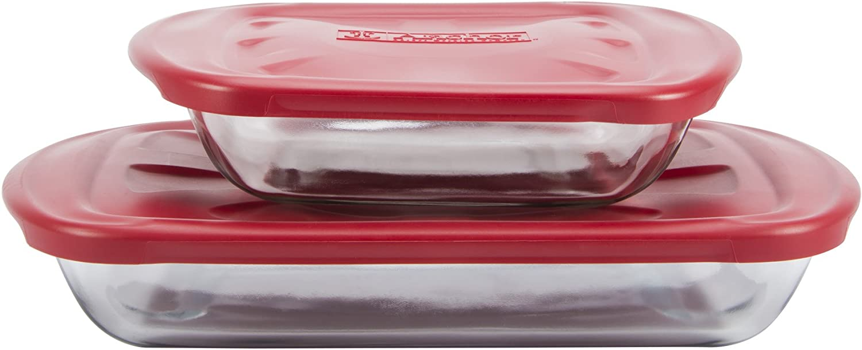 Anchor Hocking 4 Pc. Glass Bakeware Set 91036