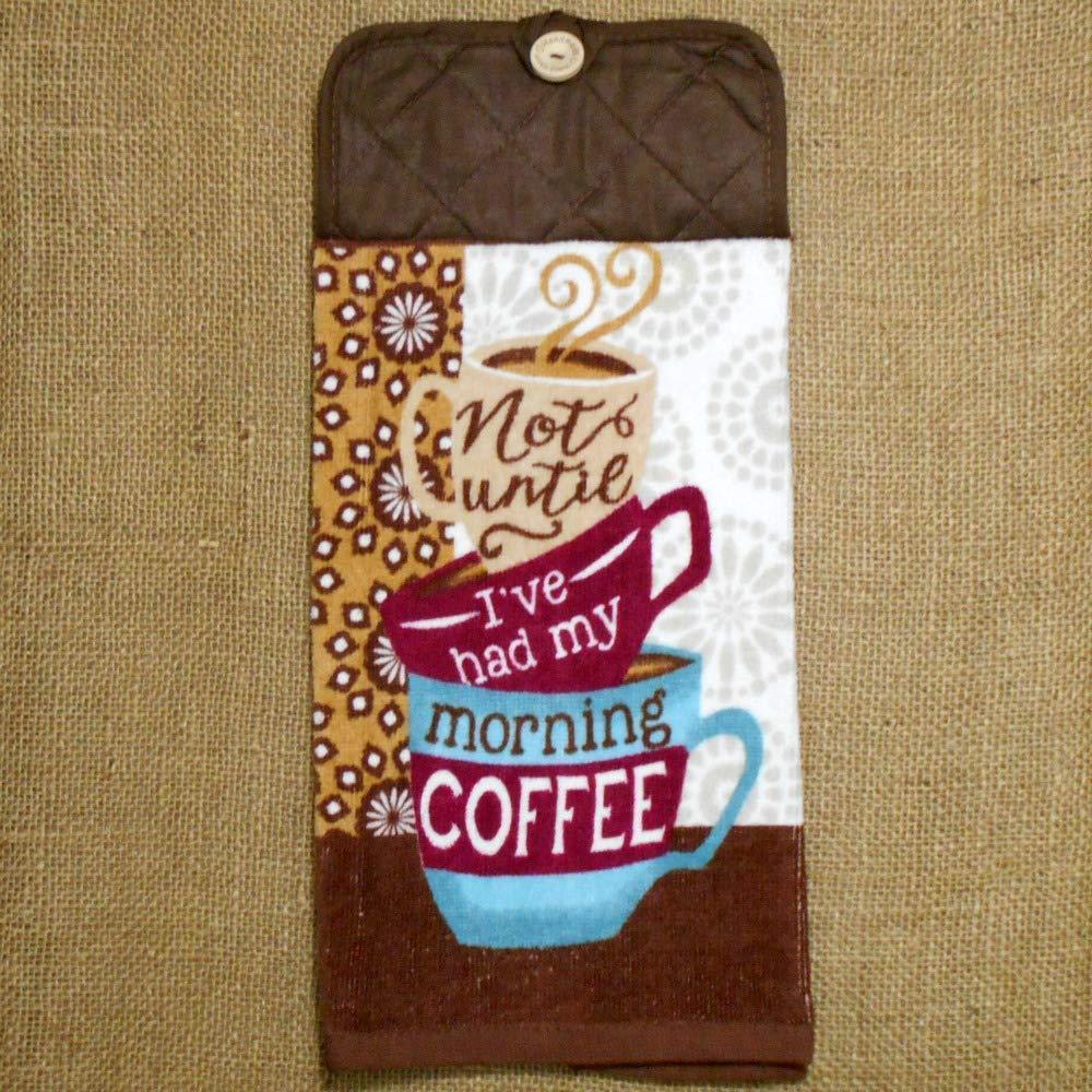 Morning Coffee Plush Hanging Dish Towel Kitchen Decor