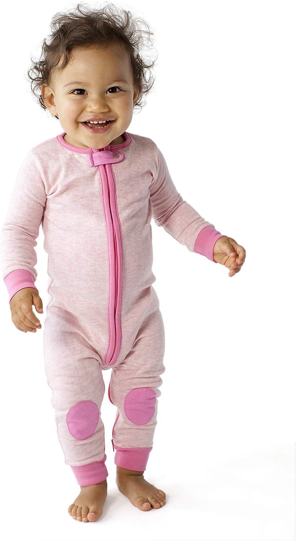 Baby deedee 1 Piece Cotton Long Sleeve Footless Romper Pajama Mint 2T