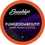 Brooklyn Beans Dark Roast Gourmet Coffee Pods, Compatible with 2.0 Keurig K Cup Brewers, Fuhgeddaboutit, 40 Count