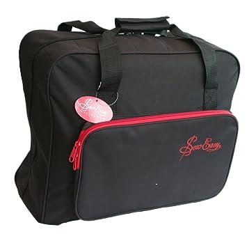 Bolso de la Máquina de Coser Negro con Borde Rojo Sew Easy MR4660-PLBK-2: Amazon.es: Hogar