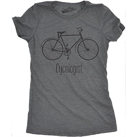5c36b3baaf068 Crazy Dog T-Shirts Womens Cycologist Funny Psychology Biking Cyclist Pun  Biker Tee T Shirt