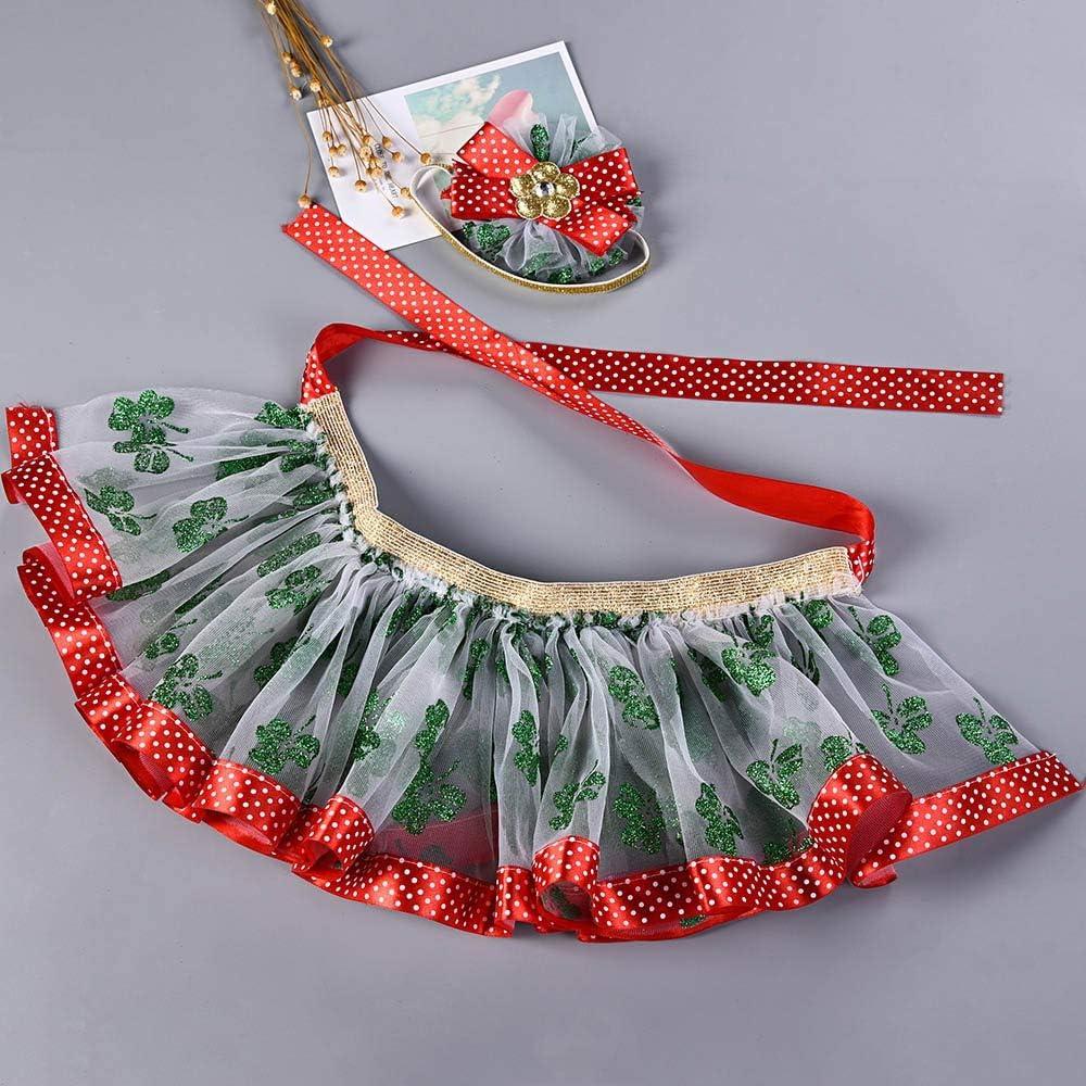 Dream Room Christmas Dresses Toddler Infant Kids Baby Girls Tutu Ballet Skirts Fancy Party Skirt Headband Set