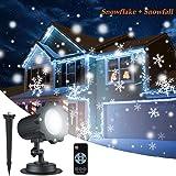 7c01b6a0d28 Dingcaiyi Proyector Navidad LED Nieve Luz del Proyector con Control Remoto  Impermeable Iluminación de Jardín Lámpara