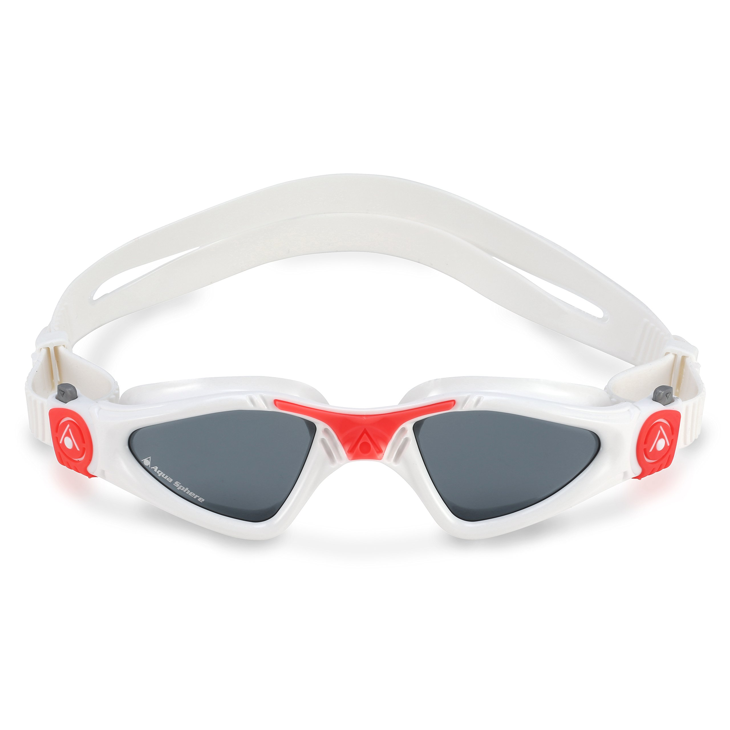 Aqua Sphere Kayenne Ladies Swimming Goggles Smoke Lens, White & Coral UV Protection Anti Fog Swim Goggles for Women by Aqua Sphere (Image #3)