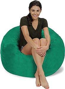 Chill Sack Bean Bag Chair: Large 3' Memory Foam Furniture Bean Bag - Big Sofa with Soft Micro Fiber Cover - Tide Pool Micro Suede