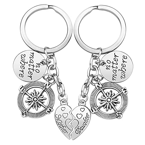Mother Daughter Gift Keychain - 2PCS Mom Daughter Gift Set for Birthday Christmas, Mom Gifts