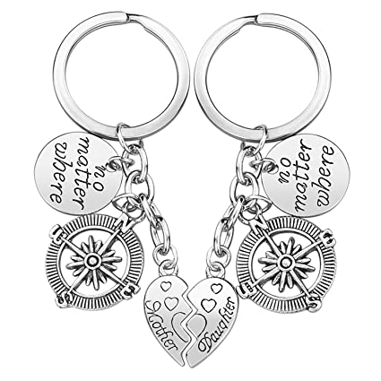 Amazon.com: Mother Daughter Gift Keychain - 2PCS Mom Daughter Gift ...