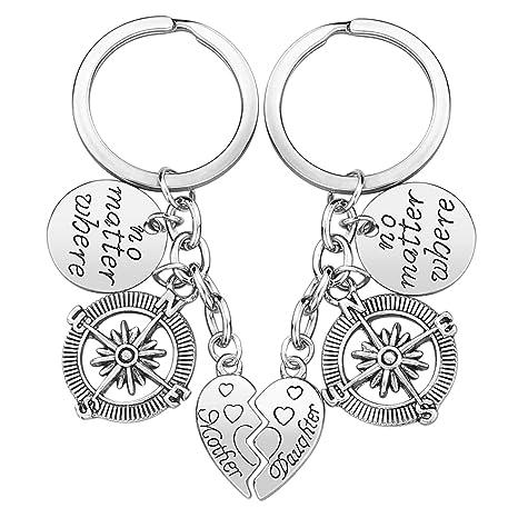 Amazon.com: Llavero de regalo para madre e hija, juego de ...