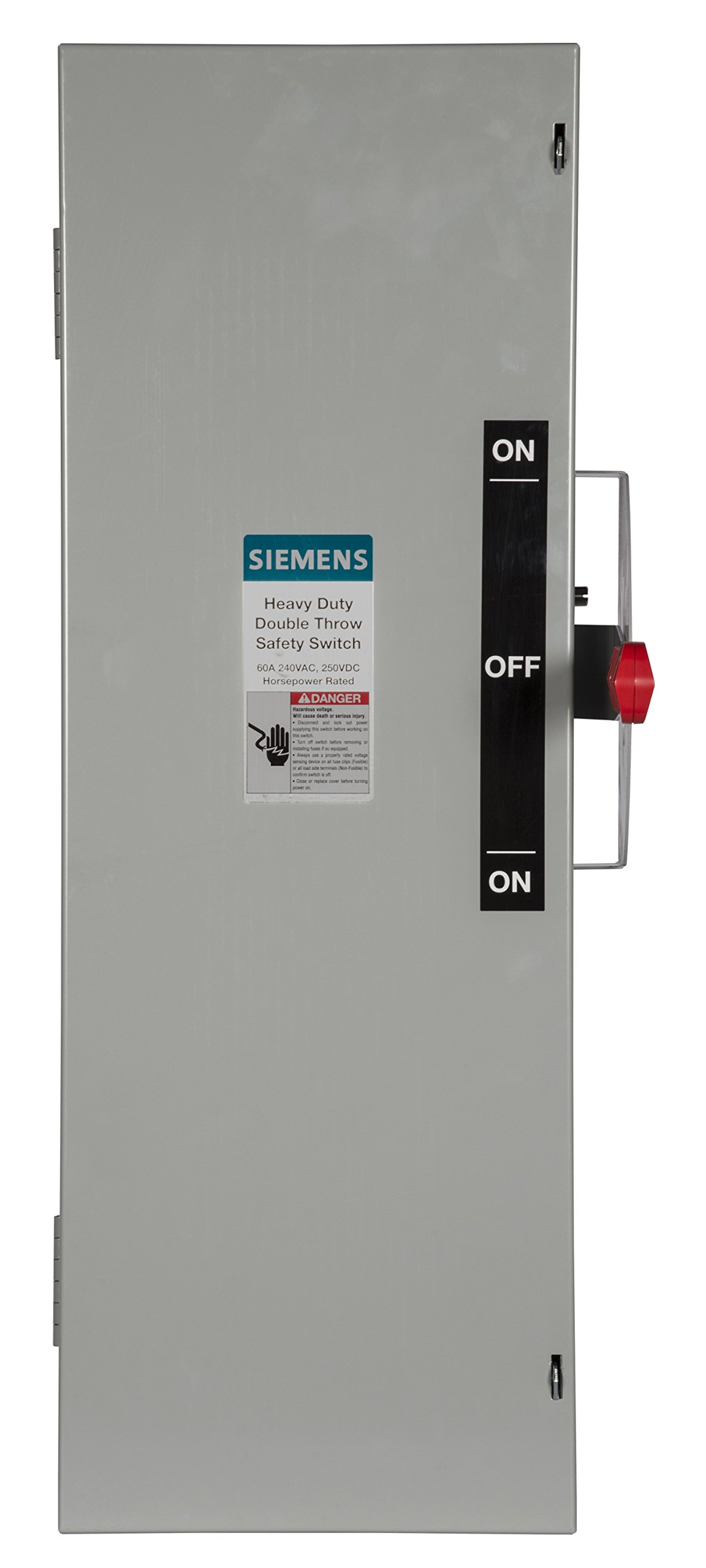 Siemens DTF322 60-Amp 3 Pole 240-volt 3 Wire Fused Double Throw Safety Switches
