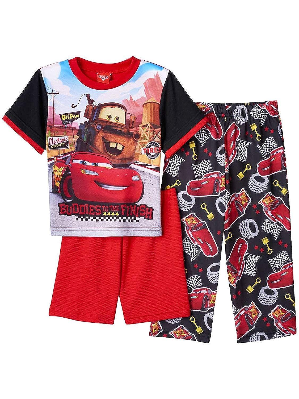 Disney Cars Toddler Boys 3 Piece Shorts Pajamas Set manufacturer