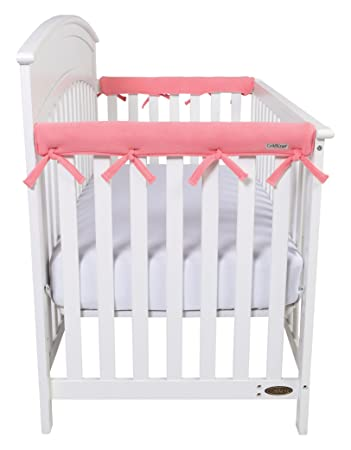 2PK For Wide Side Crib Rails Made to Fit Rails up to 18 Around Trend Lab Waterproof CribWrap Rail Cover