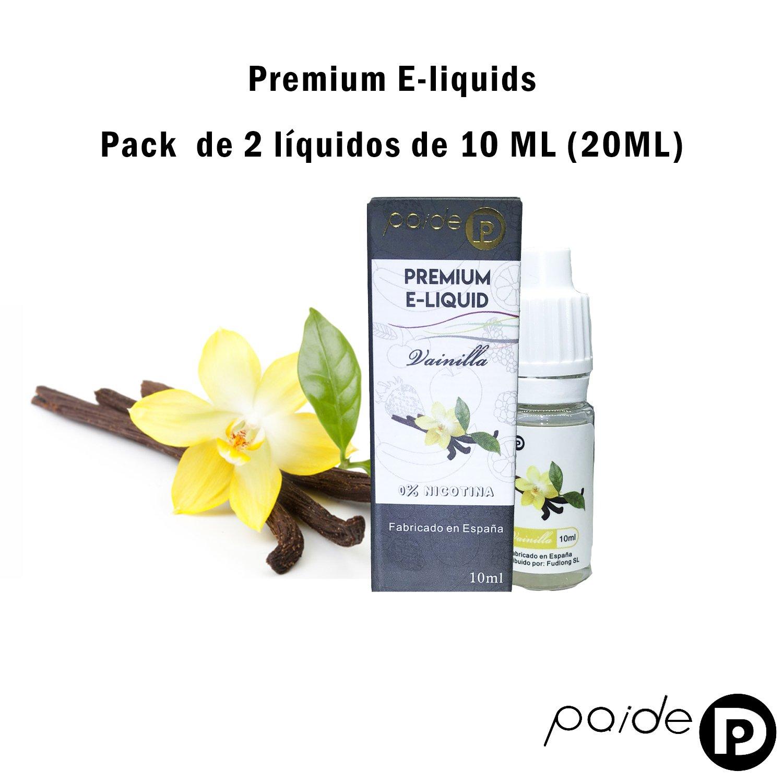 2 x 10ML Paide Premium E-Liquid - Sin nicotina - Líquido para cigarrillo electrónico - 50VG 50PG (Fresa): Amazon.es: Salud y cuidado personal