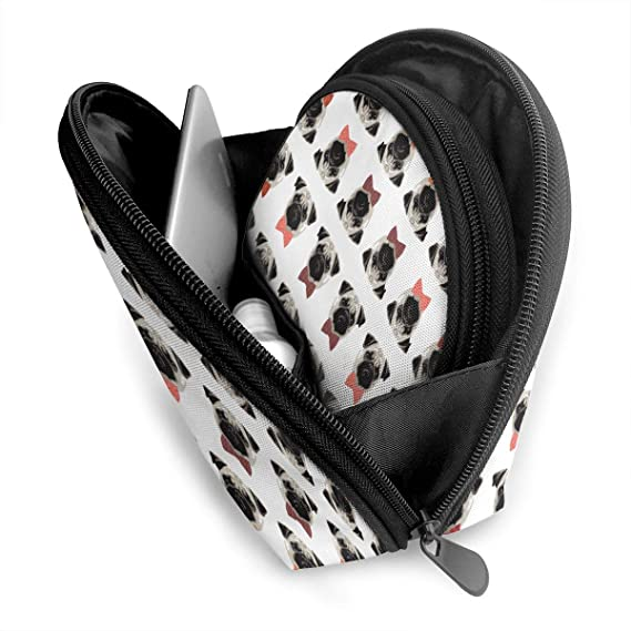 b68b194ce9b3 Amazon.com: XINLLPO Proud Pug Boys Wallpaper Portable Cosmetic Bag ...
