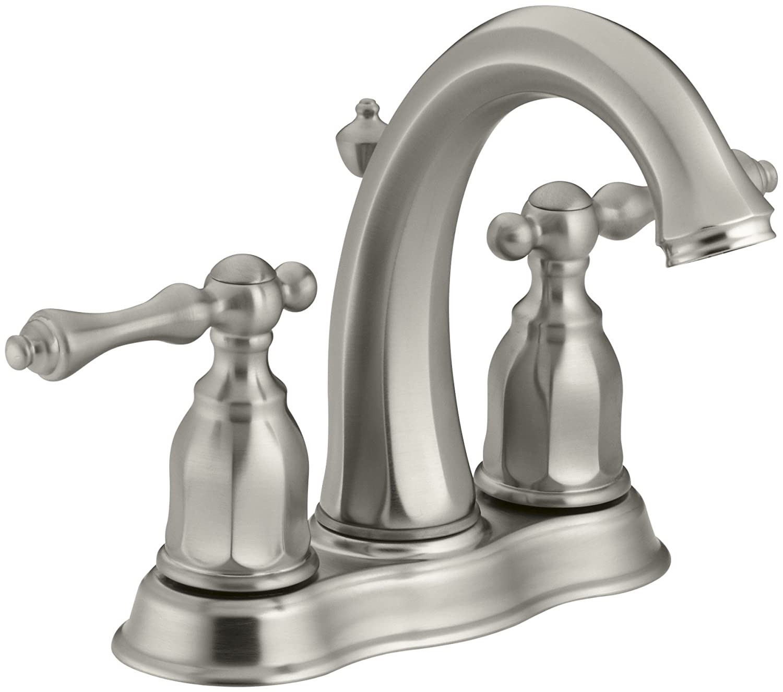 KOHLER K-13490-4-BN Kelston Center Set Bathroom Sink Faucet, Vibrant ...