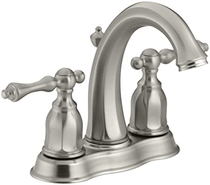 KOHLER K 13490 4 BN Kelston Center Set Bathroom Sink Faucet, Vibrant