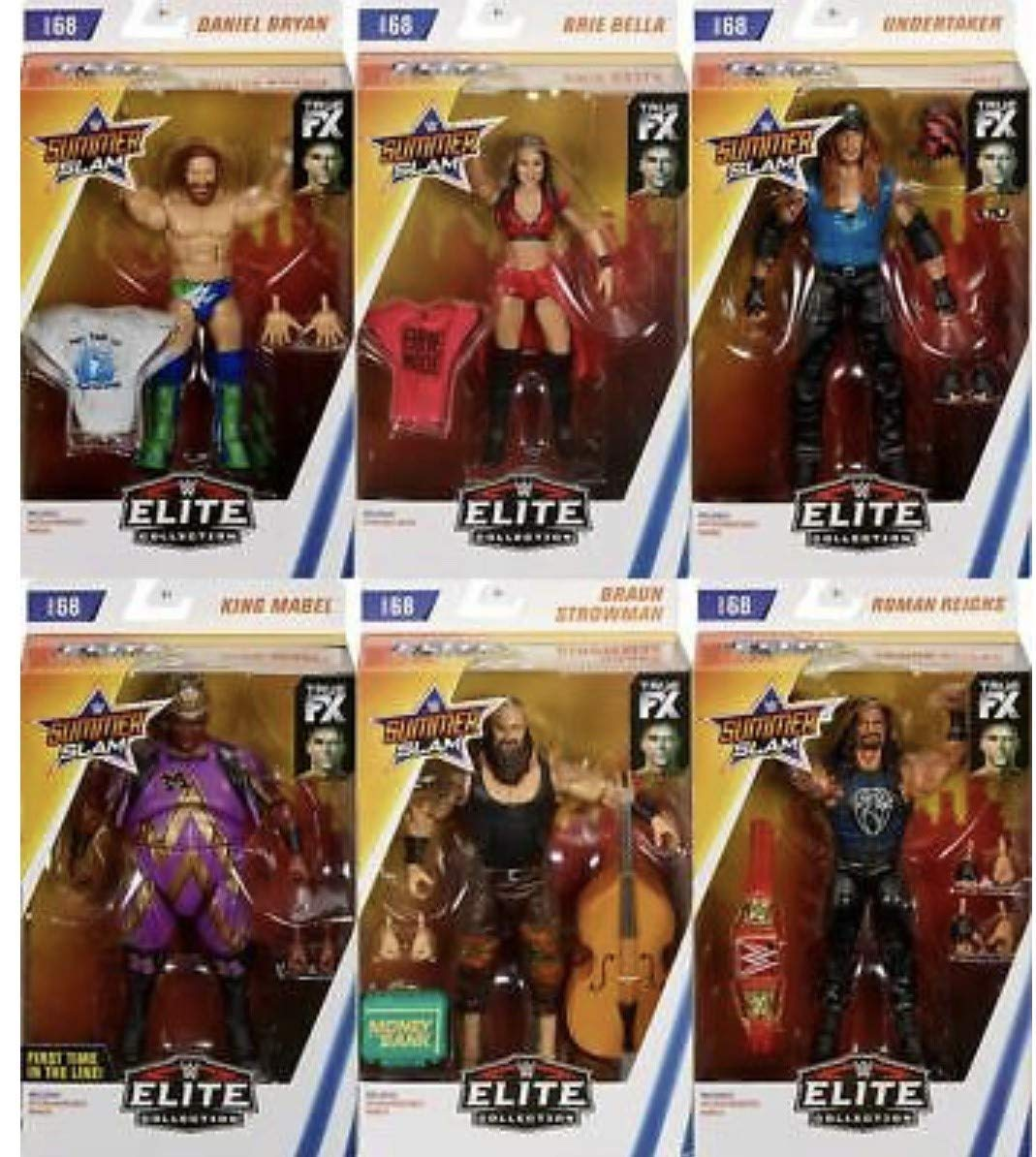 venderse como panqueques All 6 6 6 en la Foto Completo WWE Elite Figura Lucha Libre Mattel Serie 68  nuevo sádico