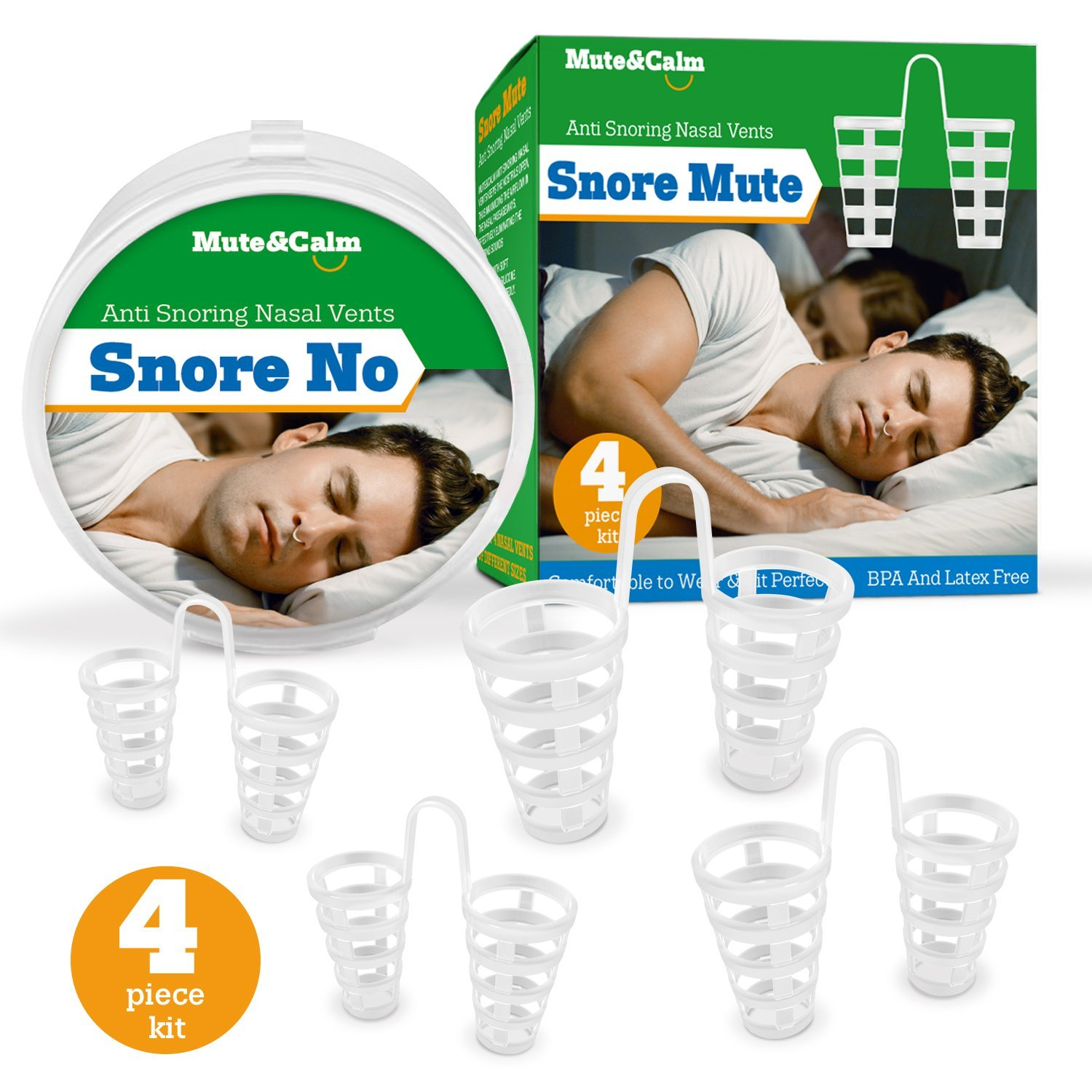 Anti Snoring Nose Vents - Aid - Set of 4 Nasal Dilators - Snore Stopper Solution (1s)