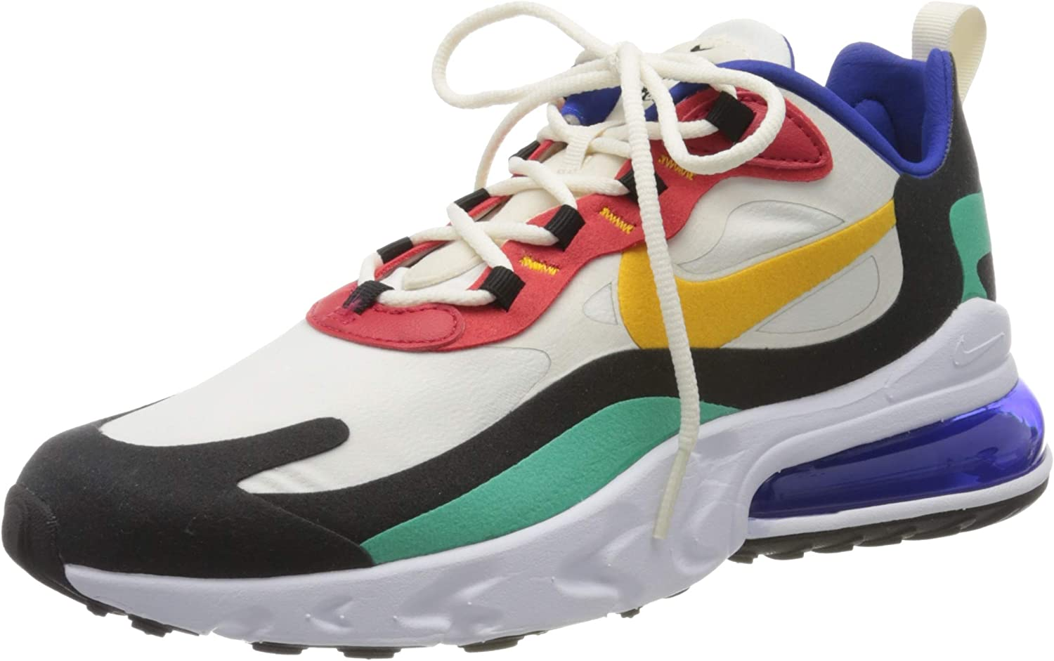 Triplicar Paloma director  Amazon.com | Nike Men's Air Max 270 React Phantom/University  Red/Black/University Gold AO4971-002 (Size: 9.5) | Road Running