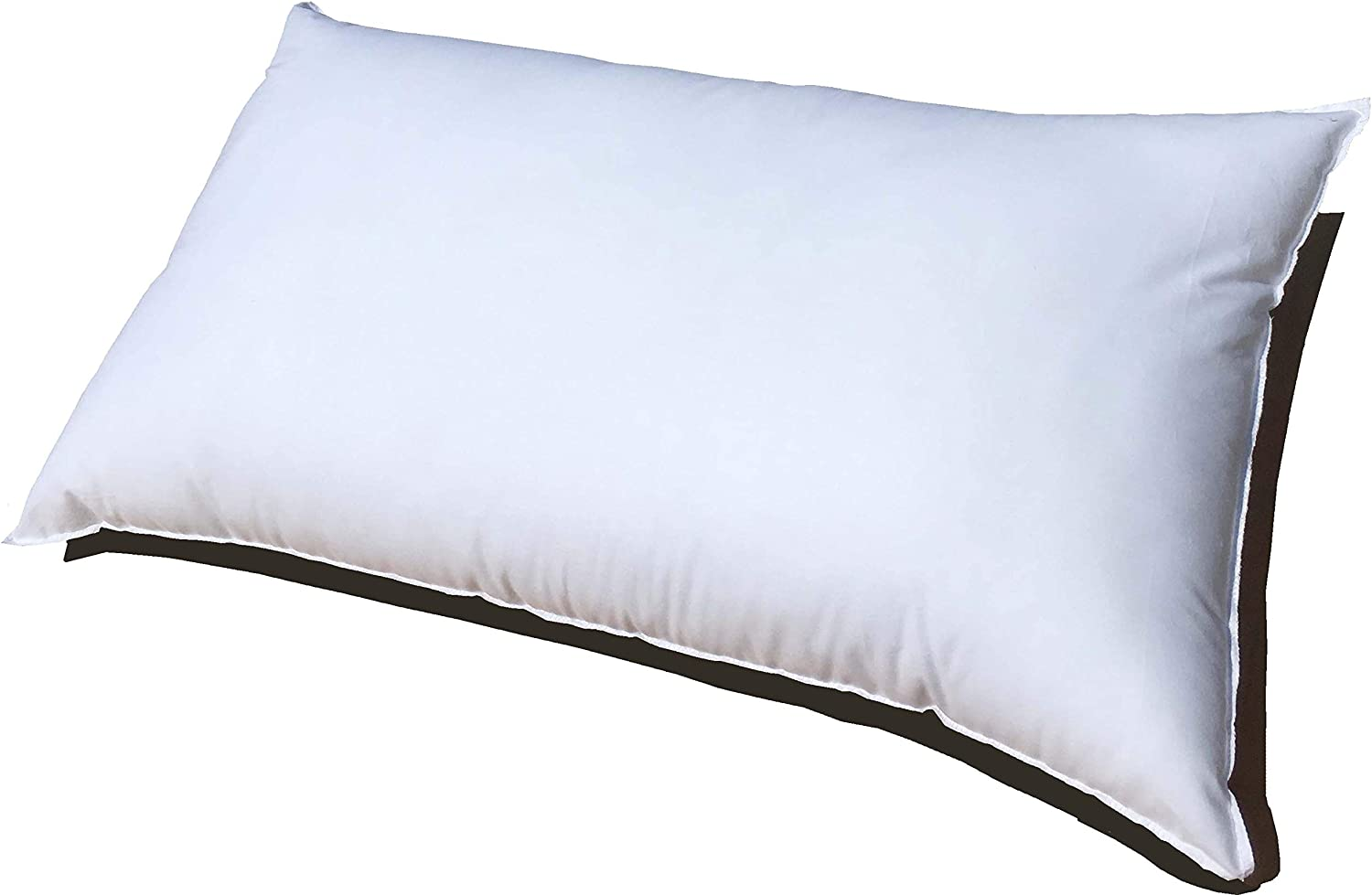 Pillowflex 21x37 Inch Premium Polyester Filled Pillow Form Insert - Machine Washable - Oblong Rectangle King - Made In USA