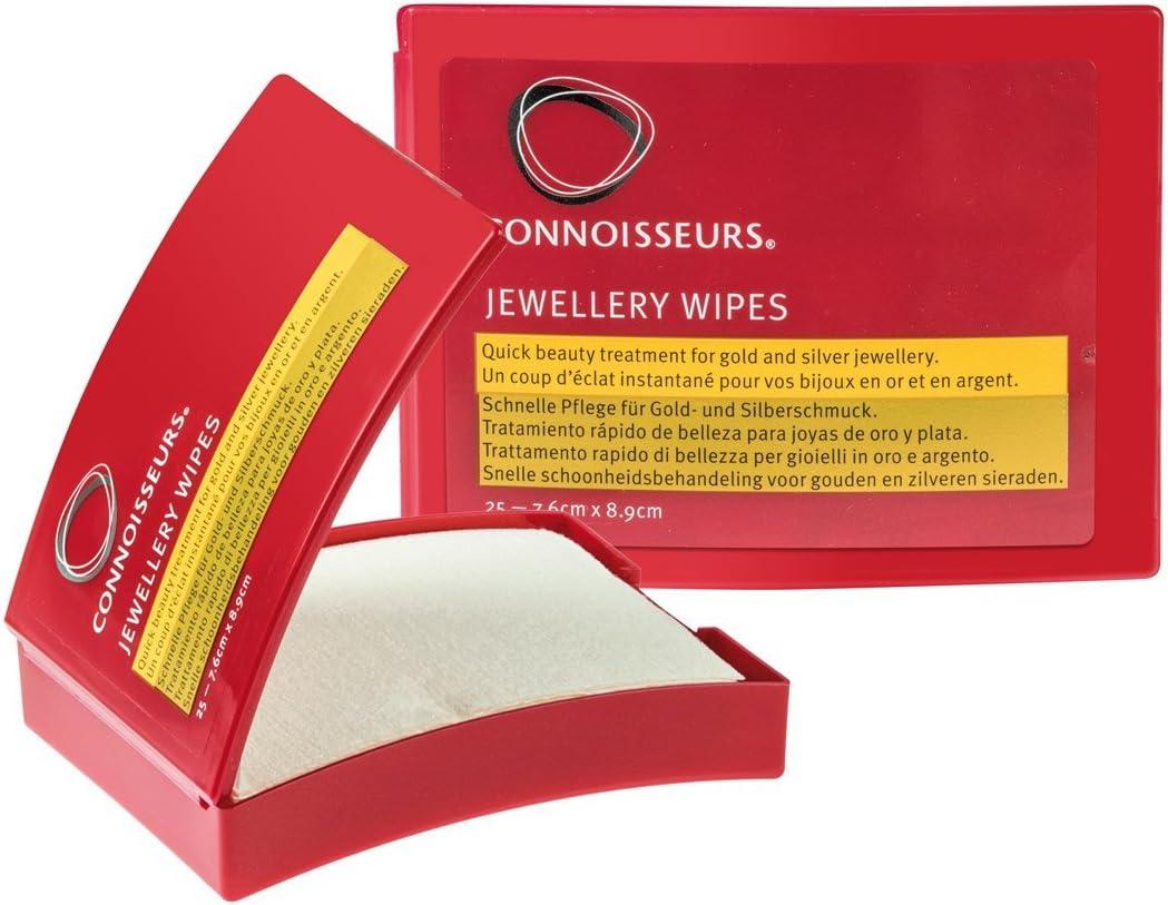 Connoisseurs Jewellery – toallitas secas para Limpiar Joyas, 25uds.