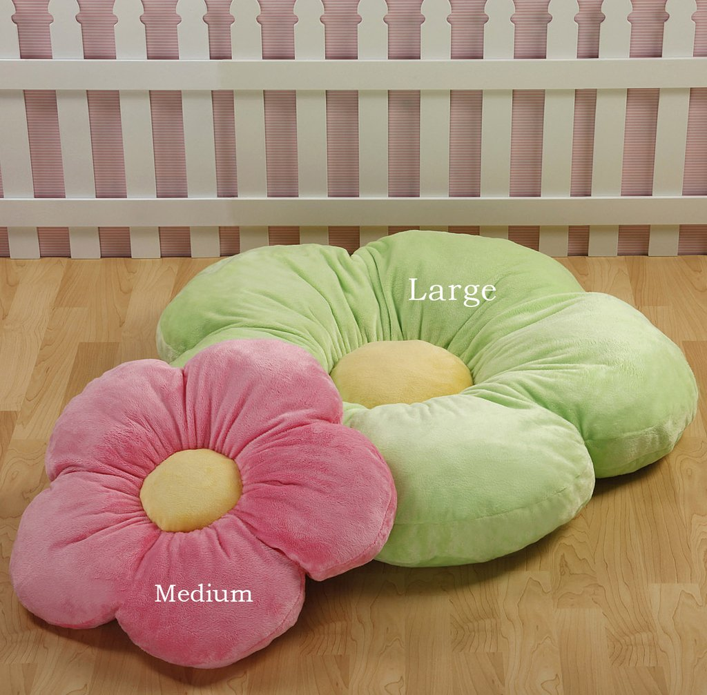 Baby bed and pillow - Amazon Com Girls Flower Floor Pillow Seating Cushion For A Reading Nook Bed Room Or Watching Tv Softer And More Plush Than Area Rug Or Foam Mat