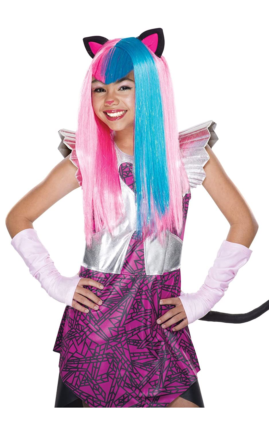 amazoncom rubies costume monster high boo york catty noir child wig toys games - Halloween Costume Monster