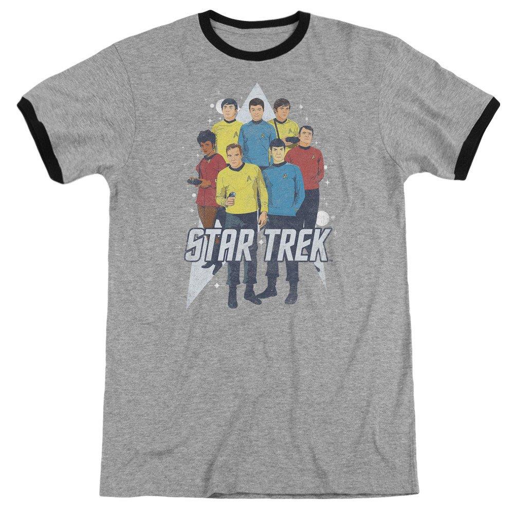 Shirt Star Trek Here Here Adult Ringer T