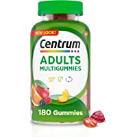 Centrum Multigummies Gummy Multivitamin for Adults, Fruit, 180 Count