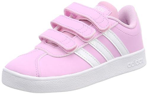 Adidas VL Court 2.0 CMF C, Zapatillas de Deporte Unisex niño, (Rosa 000), 32 EU: Amazon.es: Zapatos y complementos