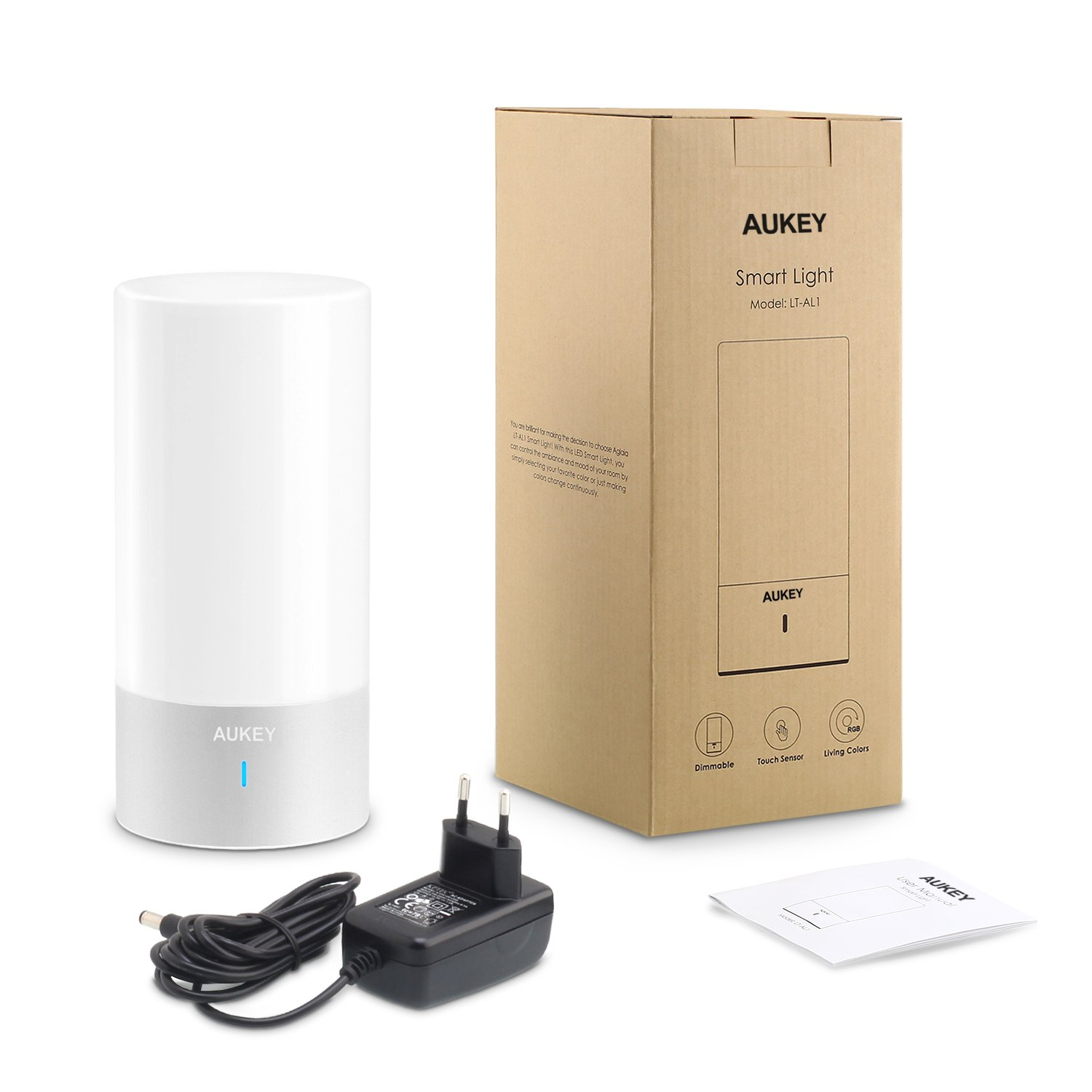 AUKEY Table Lamp, Touch Sensor Bedside Lamps + Dimmable Warm White Light & Color Changing RGB for Bedrooms by AUKEY (Image #2)