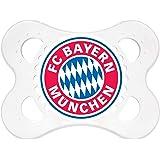 MAM 62822100 – Schnuller, Bundesliga, Football FC Bayern München 0-6 Monate, Silikon, Doppelpack
