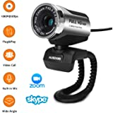 ANTZZON 1080P Full HD Webcam, Built-in Noise Reduction Microphone Stream Webcam for Video Conferencing, Online Work&Course,Yo
