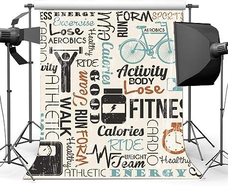BuEnn Vinilo 3X5FT Telón Fondo Gimnasio Fondo Sala Fitness ...