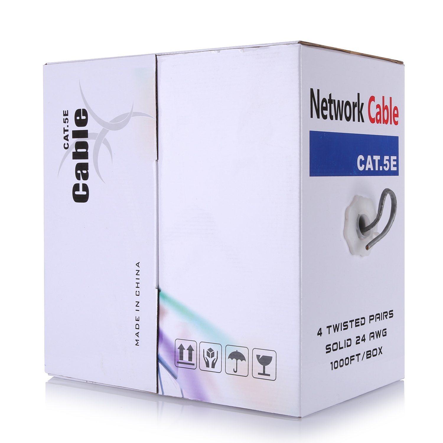 ANNKE 1000ft/300M Cat5e Unshielded (UTP) Ethernet Network Cable with Solid Conductors, 4 Pairs 24AWG Copper Clad Aluminum