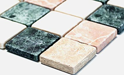 Rete mosaico piastrelle a mosaico quadrato mix random marmo pietra