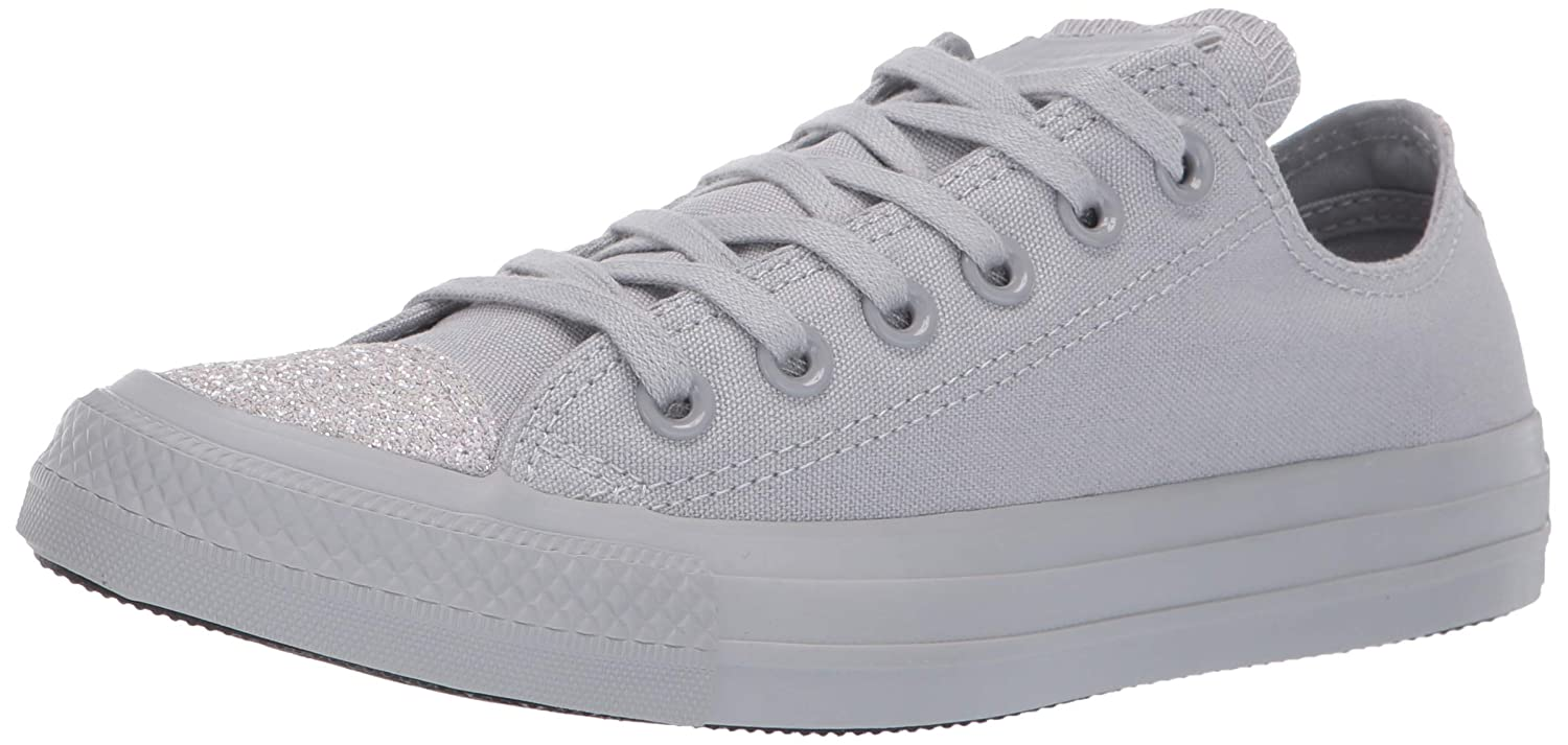 bacdabc3dd11 Amazon.com | Converse Women's Unisex Chuck Taylor All Star Glitter Accent Low  Top Sneaker | Fashion Sneakers