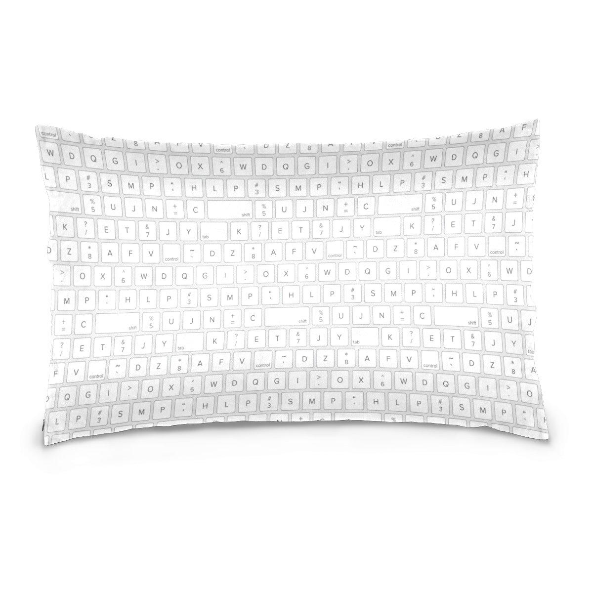 DJROW Technology Keyboard Pillow Cover on Both Sides Throw Pillow Sham Toss Pillow Case