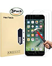 "MaxTeck [3 Pack] iPhone 6 6S 7 8 Screen protector, 0.26mm 9H Tempered Shatterproof Glass Screen Protector Anti-Shatter Film for iPhone 6 6S 7 8 4.7"" inch [3D Touch Compatible]"