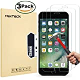 """MaxTeck [3 Pack] iPhone 6 6S 7 8 Screen protector, 0.26mm 9H Tempered Shatterproof Glass Screen Protector Anti-Shatter Film for iPhone 6 6S 7 8 4.7"""" inch [3D Touch Compatible]"""