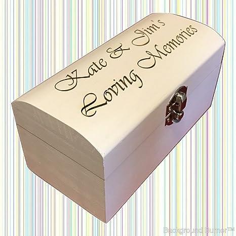 Personalizado grabado Plain o pintada en blanco cajas de madera/ personalizado/de recuerdo de