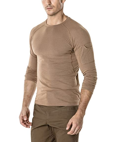 2b7d40b0e3ff CQR CQ-TOS200-CYT 2X-Large Men s Mesh Long-Sleeve Tee Tactical Performance