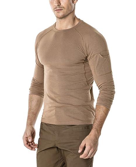 2b7d40b0e3ff CQR CQ-TOS200-CYT 2X-Large Men s Mesh Long-Sleeve Tee Tactical Performance