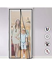 Moustiquaire porte Magnétique, Aimants Ultra Seal, Facile à Installer Sans Percer Magnétique Fermeture Automatique Rideau Porte pour Portes, Patio, Porte d Entrée Intérieur, Couloirs (120 * 250cm)