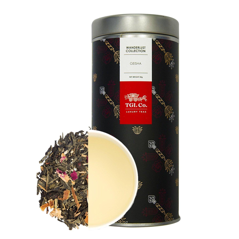 birthday invitation card in hindi%0A TGL Co  Geisha Green Leaf Tea      gms   Makes    Cups   Amazon in  Grocery   u     Gourmet Foods